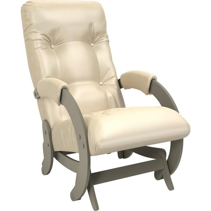 Кресло-качалка глайдер Мебель Импэкс Модель 68 серый ясень к/з oregon perlamutr 106