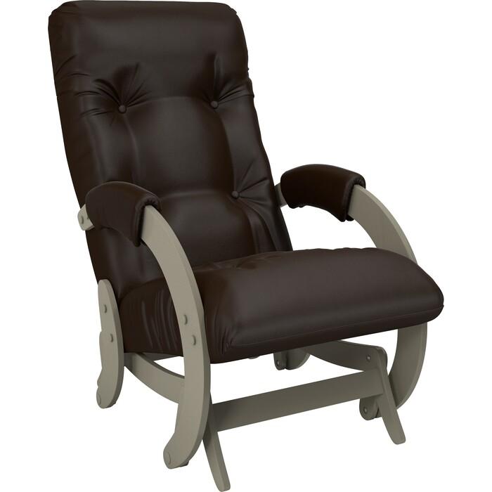 Кресло-качалка глайдер Мебель Импэкс Модель 68 серый ясень к/з oregon perlamutr 120