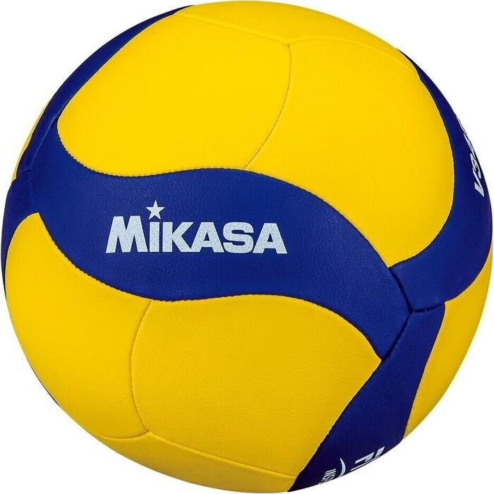 Мяч волейбольный Mikasa V430W, р.5, вес 195-225г, синт.кожа (ПУ), 18 пан, маш.сш., бут.кам, желто-синий