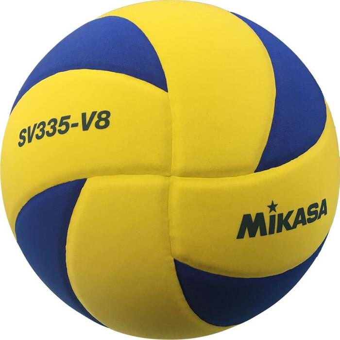 Мяч волейбольный Mikasa SV335-V8, р.5, синт.пена ТПЕ, клееный, бут.кам, жел-син(зима)