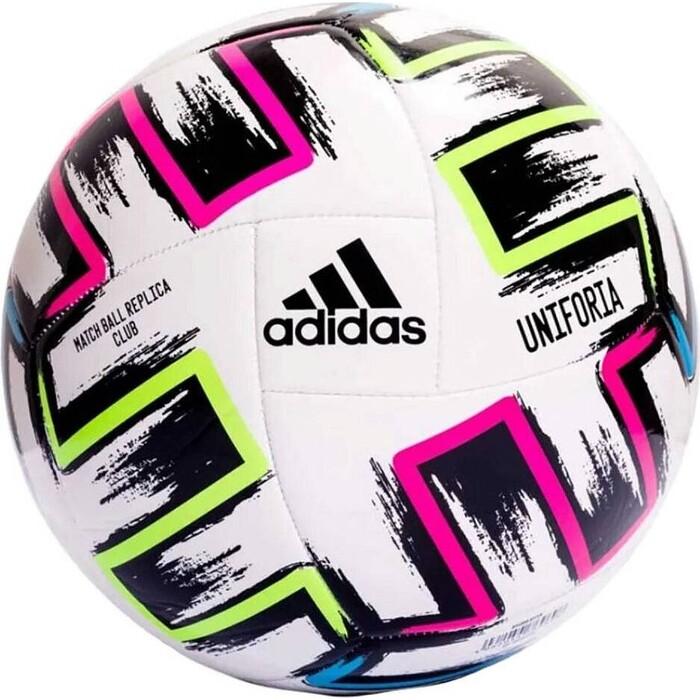 Мяч футбольный Adidas UNIFORIA CLUB арт. FH7356, р.5, 18 пан, ТПУ, маш.сш., бело-черно-зелено-синий