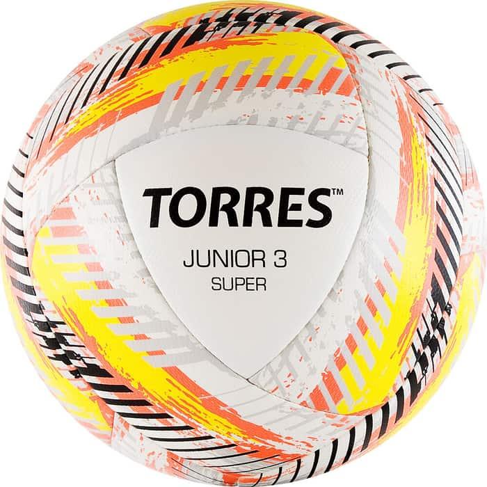 Мяч футбольный Torres Junior-3 Super арт. F319203, р.3, вес 280-310 г, ПУ, 2 сл, 16 п,гиб.сш,бел-крас-жел