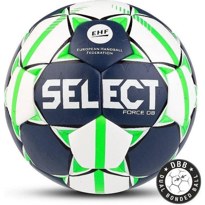 Мяч гандбольный Select FORCE DB арт. 844920-002, Lille (р.1), EHF Appr, ПУ,руч.сш.,бело-салат-черн