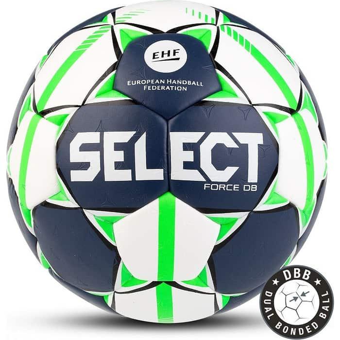 Мяч гандбольный Select FORCE DB арт. 84490-002, Junior (р.2), EHF Appr, ПУ,руч.сш., бело-салат-черн