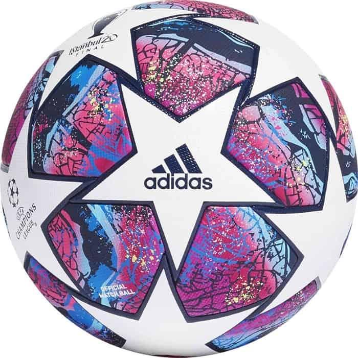 Мяч футбольный Adidas Finale 20 ISTANBUL PRO арт. FH7343, р.5, 32п, FIFA PRO, ПУ, термосш, мультиколор