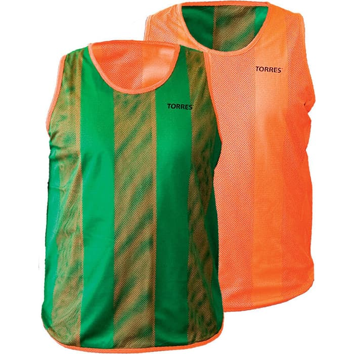 Манишка Torres двухсторонняя, арт. TR11949O/G, р. Jr, тренировочная, полиэстер, оранж-зеленый