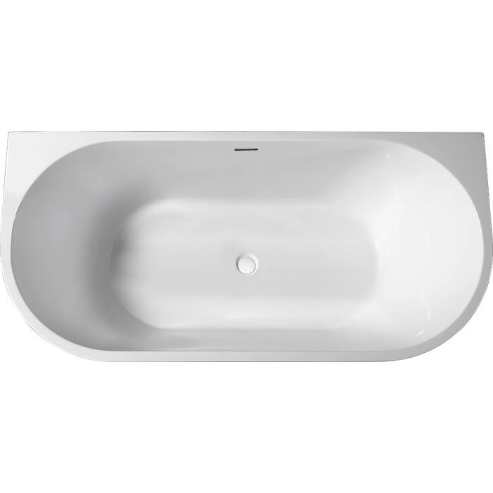 Акриловая ванна Abber 170x80 пристенная, синяя (AB9216-1.7DB)