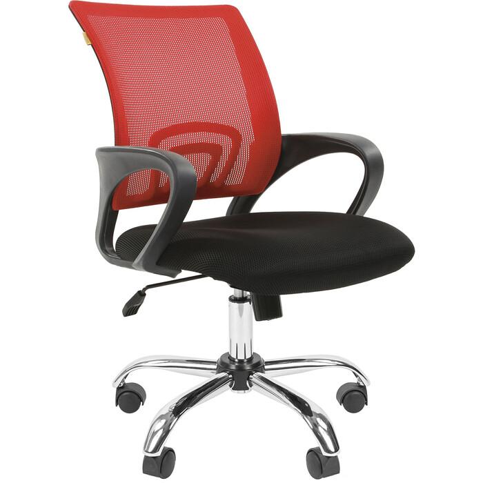 Офисное кресло Chairman 696 TW красный хром