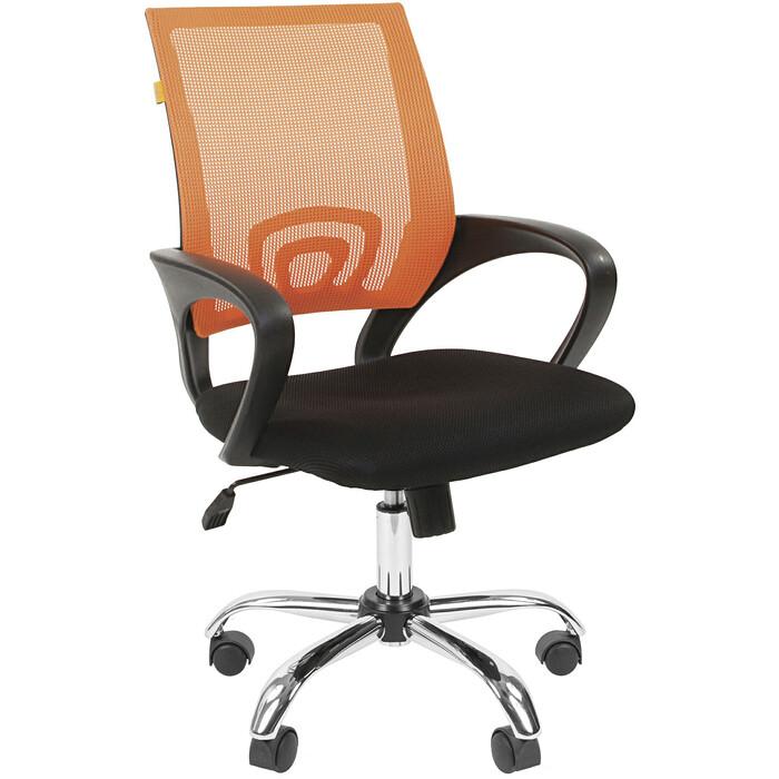 Офисное кресло Chairman 696 TW оранжевый хром