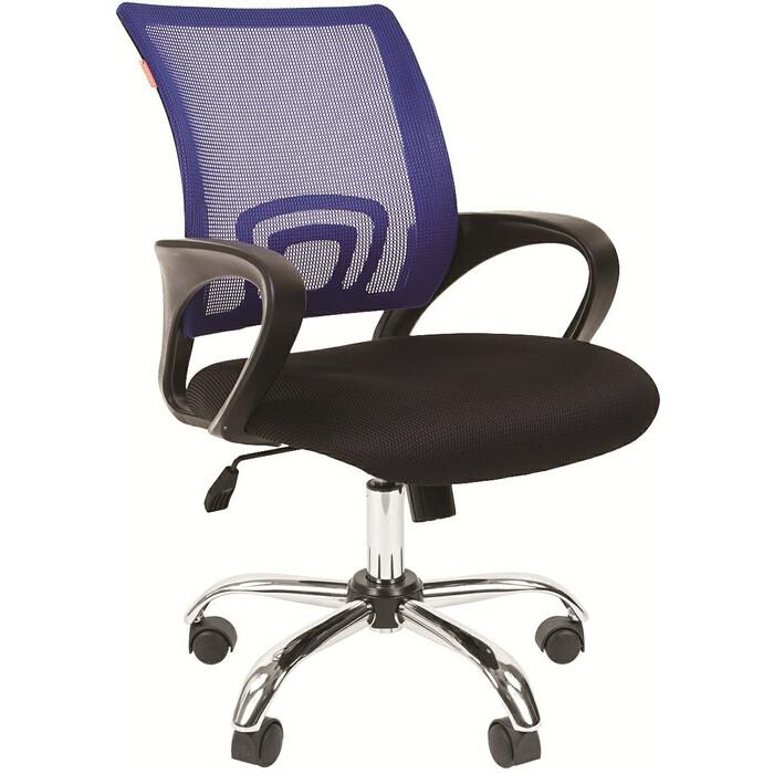 Офисное кресло Chairman 696 TW синий хром