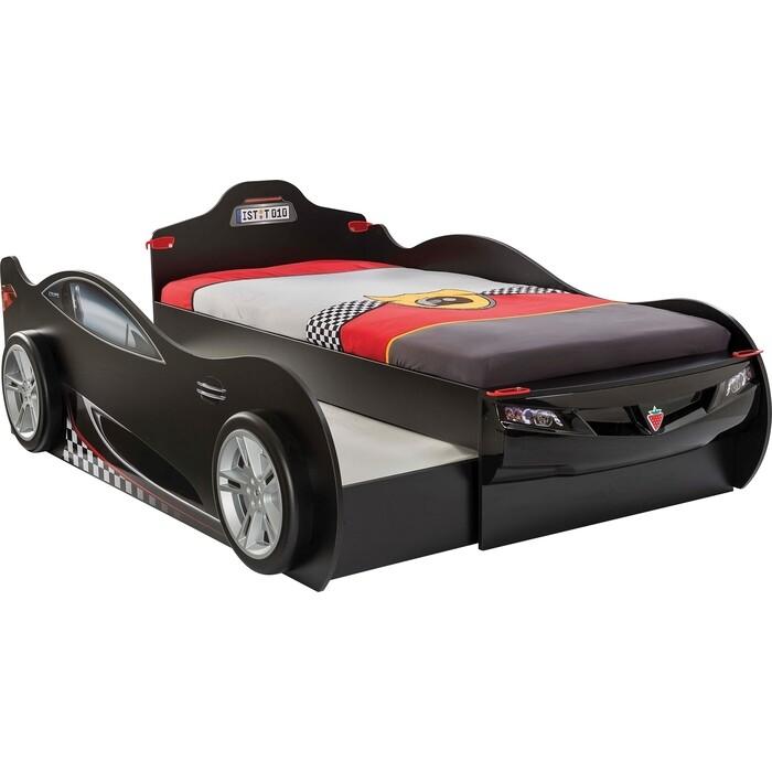 Кровать-машина Cilek Coupe двухместная черная