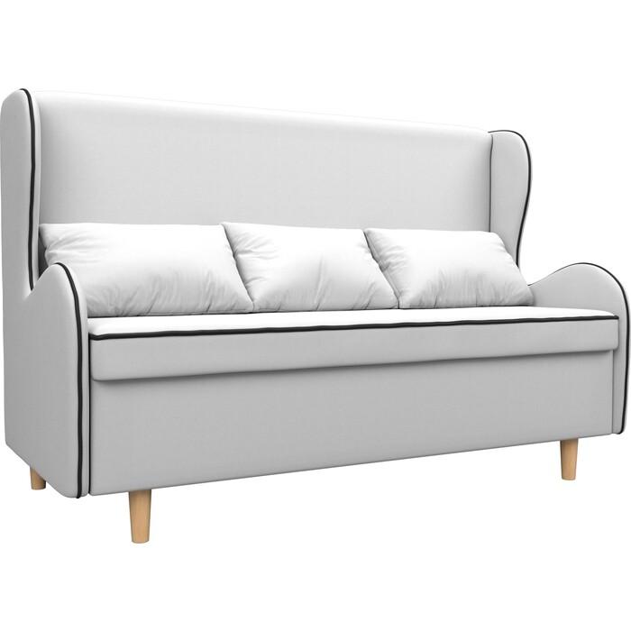 Кухонный прямой диван АртМебель Сэймон экокожа белый