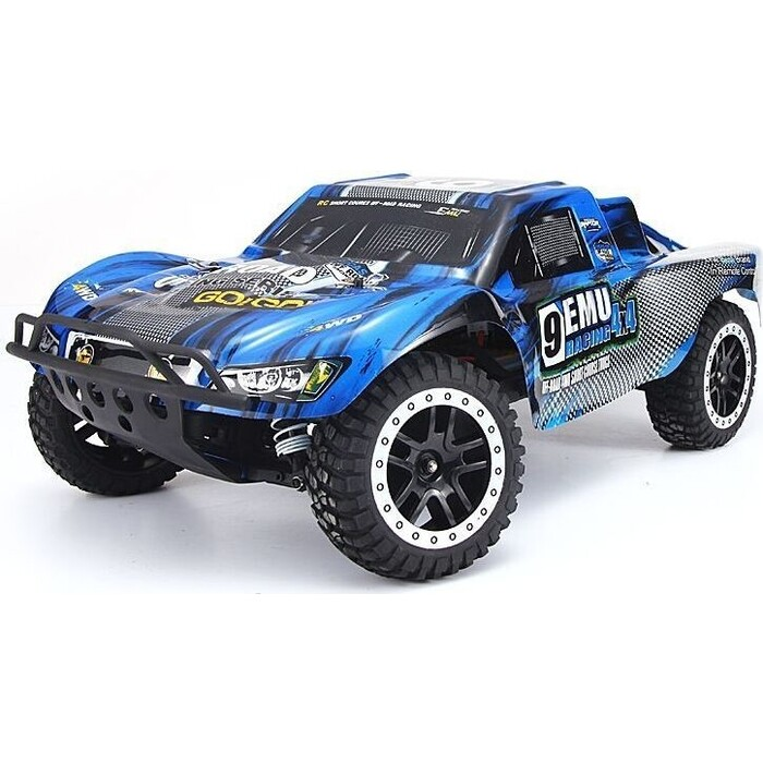 Радиоуправляемый шорт-корс Remo Hobby 9EMU (синий) 4WD 2.4G 1/8 RTR - RH1021-BLUE радиоуправляемый шорт корс трак remo hobby truck 9emu 4wd rtr масштаб 1 8 2 4g 1021