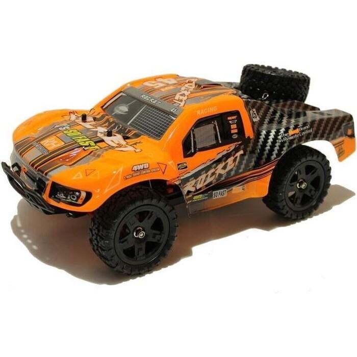Радиоуправляемый шорт-корс Remo Hobby Rocket Brushless (оранжевый) 4WD 2.4G 1/16 RTR - RH1625-ORAN радиоуправляемый шорт корс трак remo hobby truck 9emu 4wd rtr масштаб 1 8 2 4g 1021