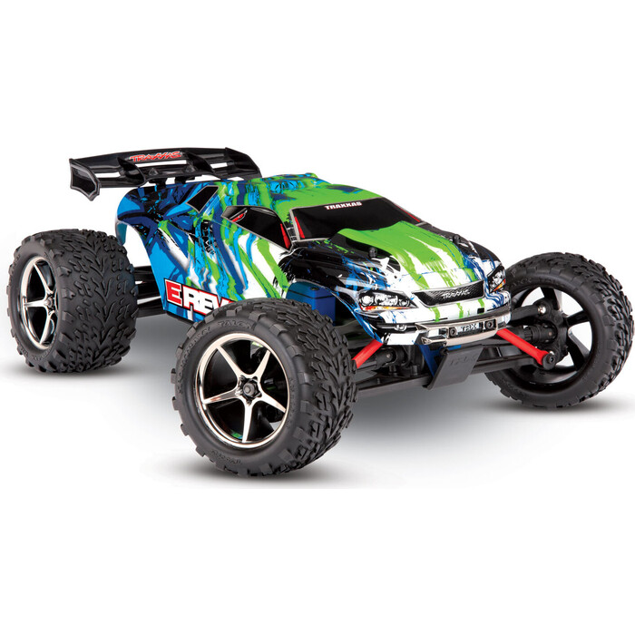 Радиоуправляемый машина TRAXXAS E-Revo 1:16 4WD Brushed TQ Fast Charger, green - TRA71054-1-G