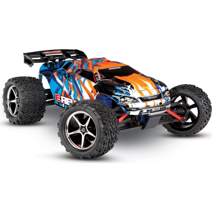 Радиоуправляемая машина TRAXXAS E-Revo 1:16 4WD Brushed TQ Fast Charger, orange - TRA71054-1-OR