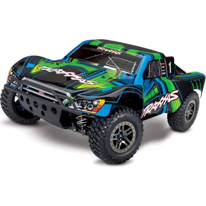 Радиоуправляемая машина TRAXXAS Slash Ultimate 1:10 4WD VXL TQi Bluetooth Module OBA Green - TRA68077-4-G
