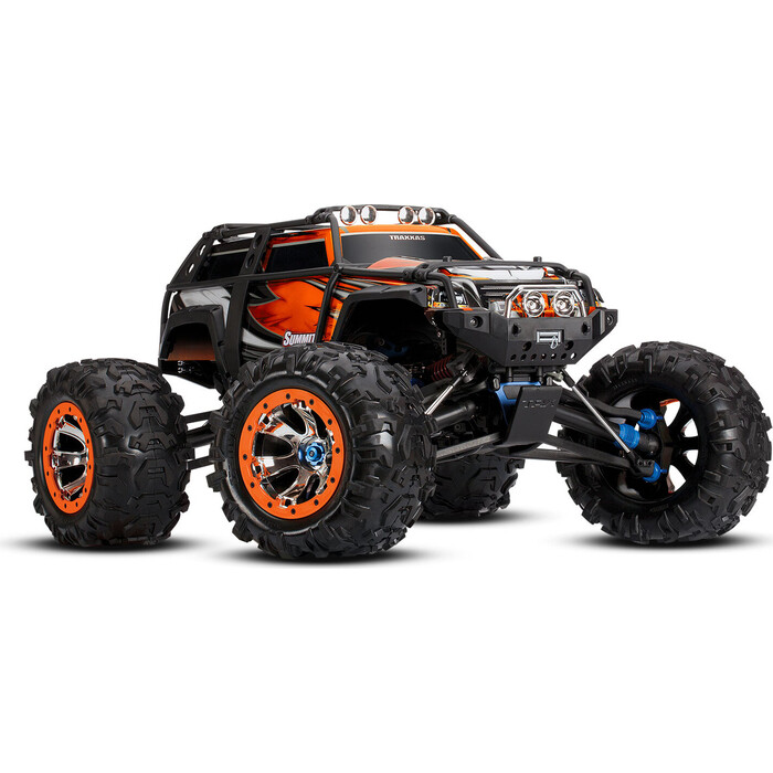 Радиоуправляемая машина TRAXXAS Summit 1:10 4WD TQi Ready to Bluetooth Module (w:o Battery and Charger) Orange - TRA56076-4-ORX