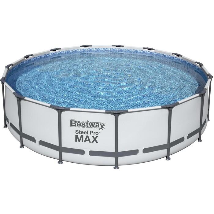 Каркасный бассейн Bestway 56488 BW 457х107 см 14970л фильтр-насос 3028 л/чтент лестница насос bestway 62101 bw