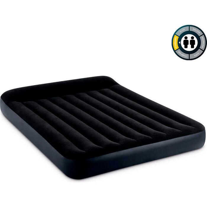 Надувной матрас Intex Pillow Rest Classic Airbed (Queen) 152х203х25см с подголовником, 64143
