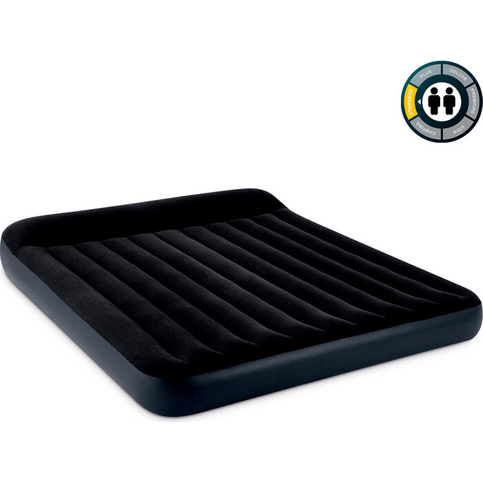 Надувной матрас Intex Pillow Rest Classic Airbed (King) 183х203х25см с подголовником, 64144