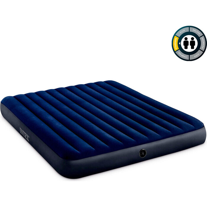 Надувной матрас Intex 64755 Classic Downy Airbed Fiber-Tech 183х203х25 см