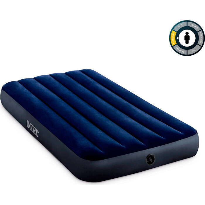Надувной матрас Intex 64757 Classic Downy Airbed Fiber-Tech 99х191х25 см
