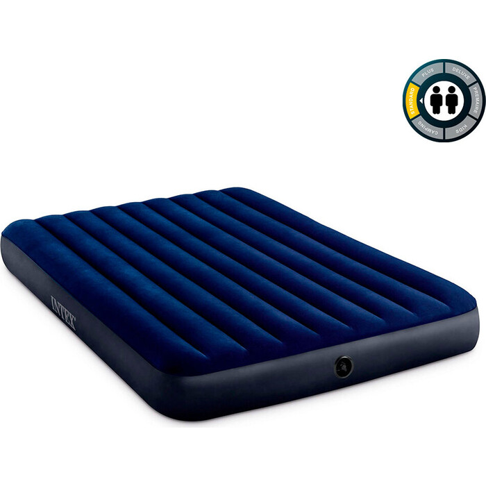 Надувной матрас Intex 64759 Classic Downy Airbed Fiber-Tech 152х203х25 см
