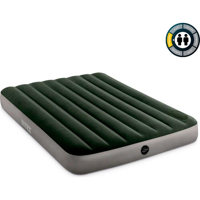 Надувной матрас Intex 64762 Downy Airbed 137х191х25 см со встроенным ножным насосом
