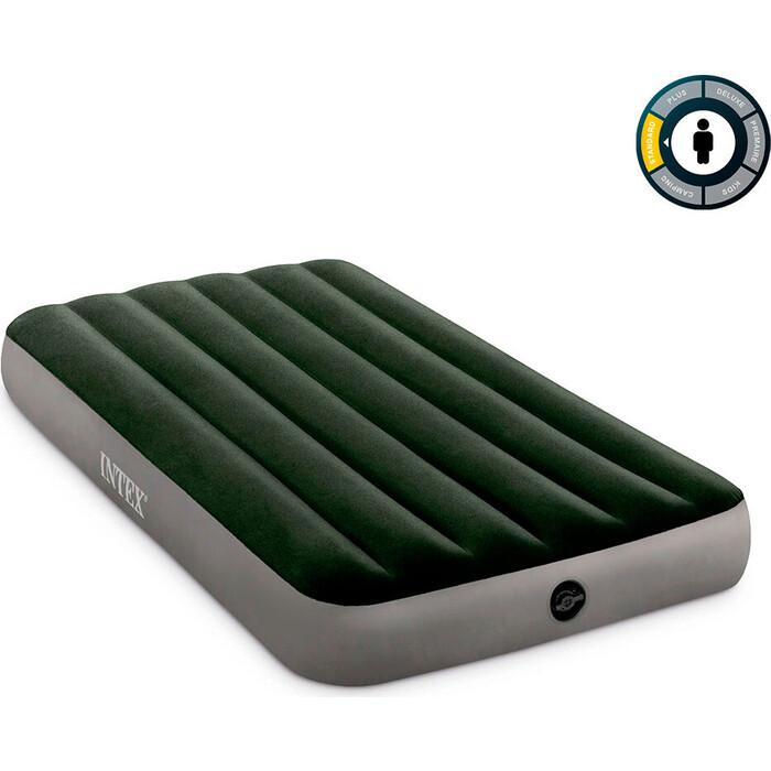 Надувной матрас Intex Prestige 99х191х25см насос на батарейках (6хС), 64777