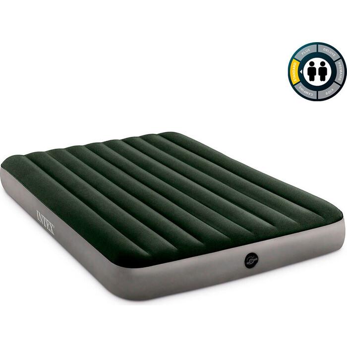 Надувной матрас Intex Prestige 152х203х25см насос на батарейках (6хС), 64779