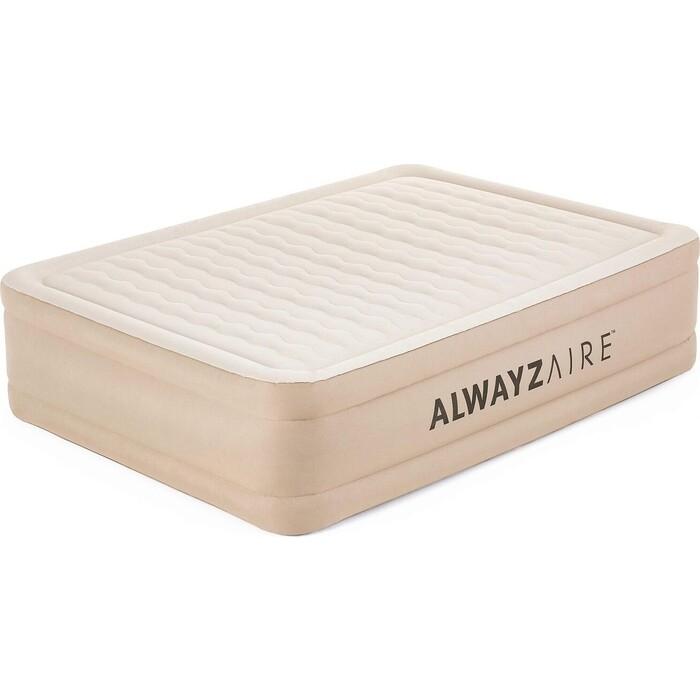 Надувная кровать Bestway 69054 BW Alwayzaire Fortech 203x152x51 см встроенный электронасос с автоподкачкой