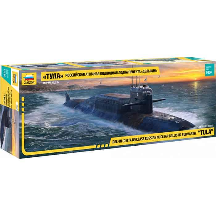 Сборная модель Звезда Атомная подводная лодка Тула  проекта Дельфин , 1/350 - ZV 9062