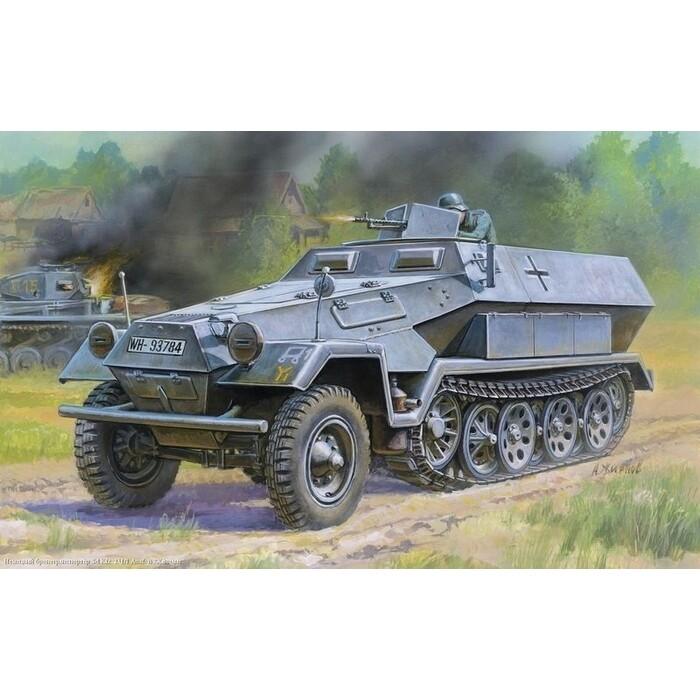Сборная модель Звезда Немецкий бронетранспортер Ханомаг Sd.Kfz 25, масштаб 1:1 AusF.B, масштаб 1:35, ZV - 3572