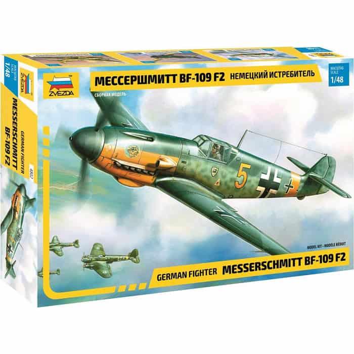 Сборная модель Звезда Немецкий истребитель Мессершмитт  BF - 109 F2, 1/48 - ZV - 4802