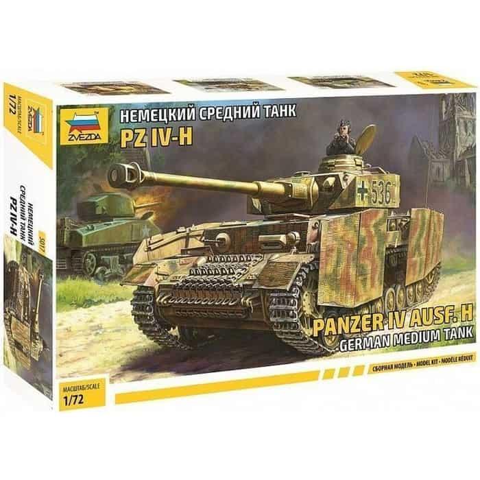 Сборная модель Звезда Немецкий средний танк PZ IV - H, 1/72 ZV 5017