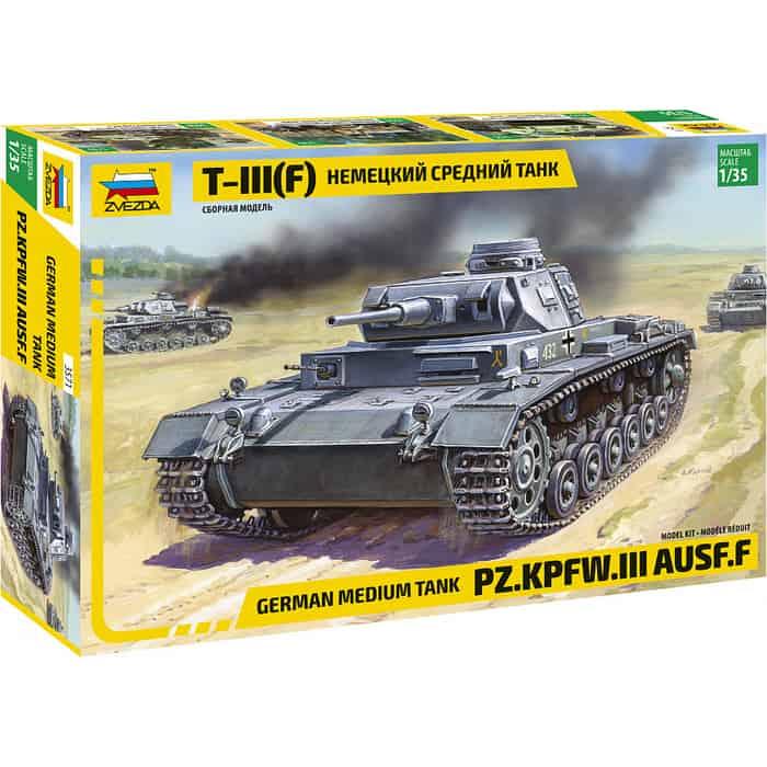 Сборная модель Звезда Немецкий средний танк T - III (F), 1/35 - ZV - 3571