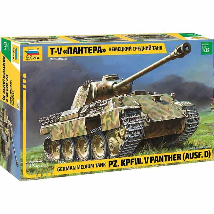 Сборная модель Звезда Немецкий средний танк Т - V Пантера, 1/35 ZV 3678