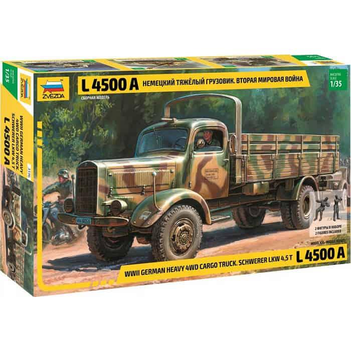 Сборная модель Звезда Немецкий тяжелый грузовик L 4500A, 1/35 - ZV 3596