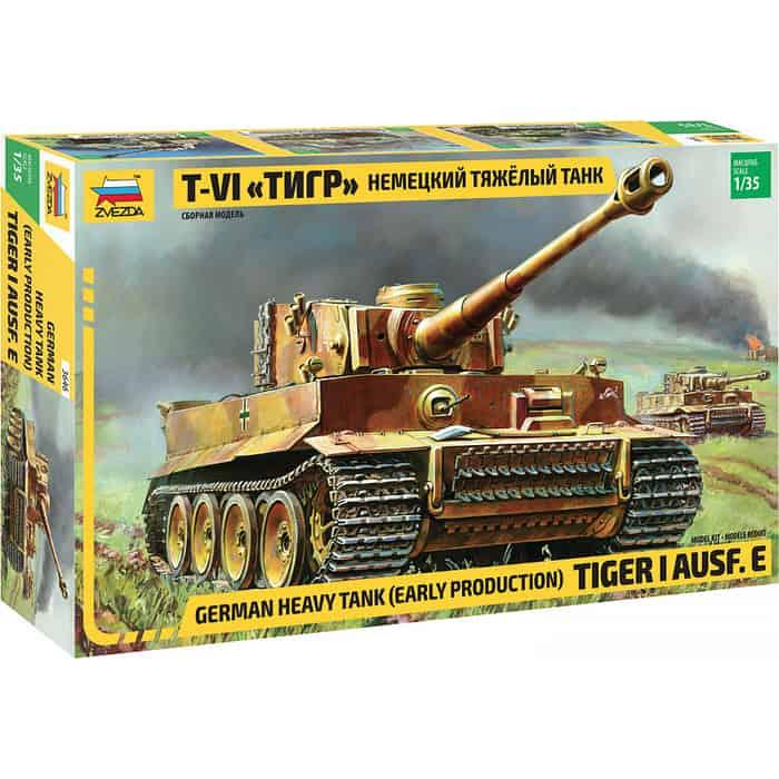 Сборная модель Звезда Немецкий тяжелый танк T - VI Тигр , 1/35 ZV 3646