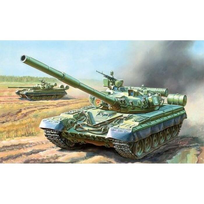 Сборная модель Звезда Основной боевой танк Т - 80Б, 1/35 ZV 3590