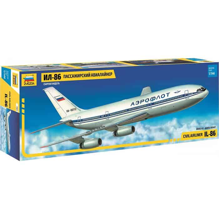 Сборная модель Звезда Пассажирский авиалайнер Ил - 86, 1/144 ZV 7001