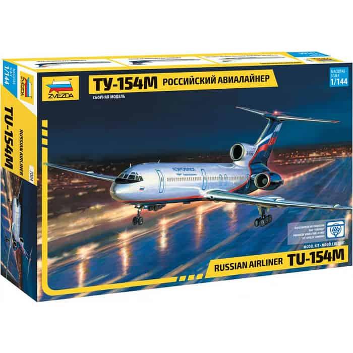 Сборная модель Звезда Российский авиалайнер ТУ - 154М, 1/144 ZV 7004