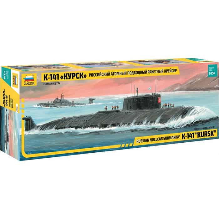 Сборная модель Звезда Российский атомный подводный ракетный крейсер К - 141 Курск , 1/350 ZV 9007