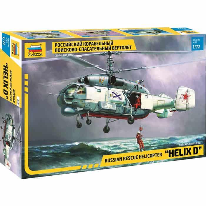 Сборная модель Звезда Российский корабельный поисково - спасательный вертолет, 1/72 ZV 7247