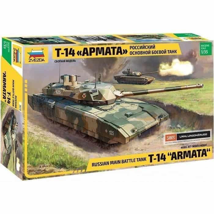 Сборная модель Звезда Российский основной боевой танк Т - 14 Армата, 1/35 ZV 3670