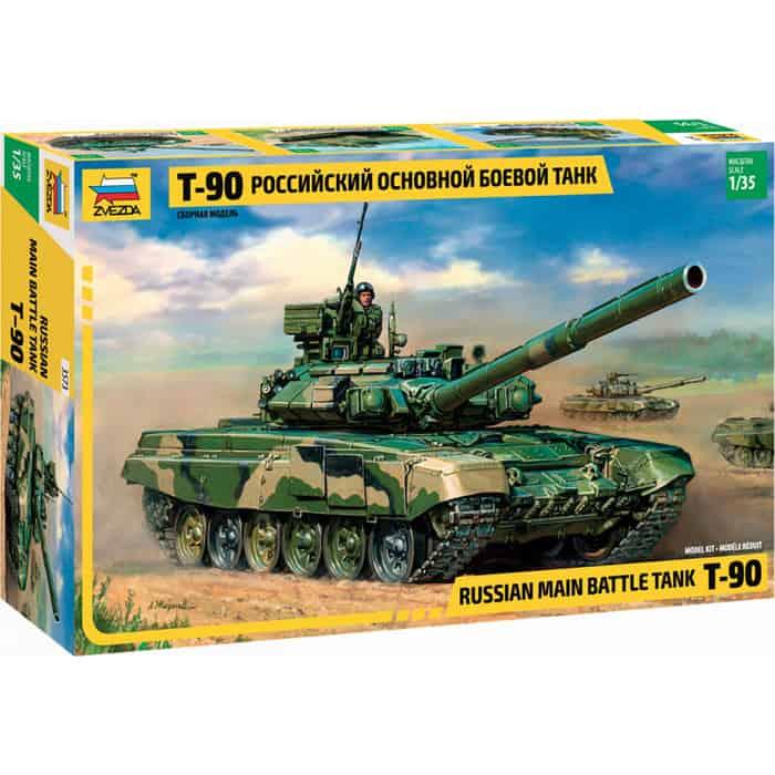 Сборная модель Звезда Российский основной боевой танк Т - 90, 1/35 ZV 3573