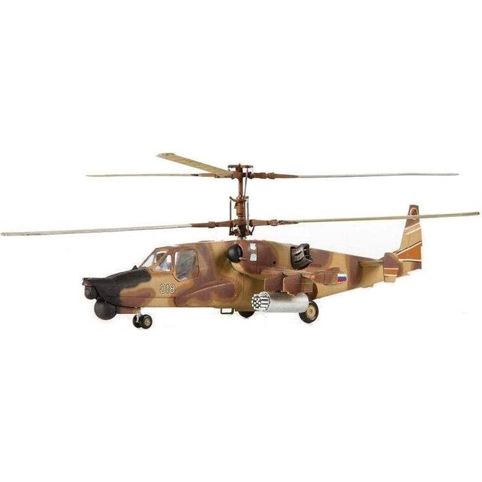 Сборная модель Звезда Российский ударный вертолет Черная акула, подарочный набор, масштаб 1:72, ZV - 7216П