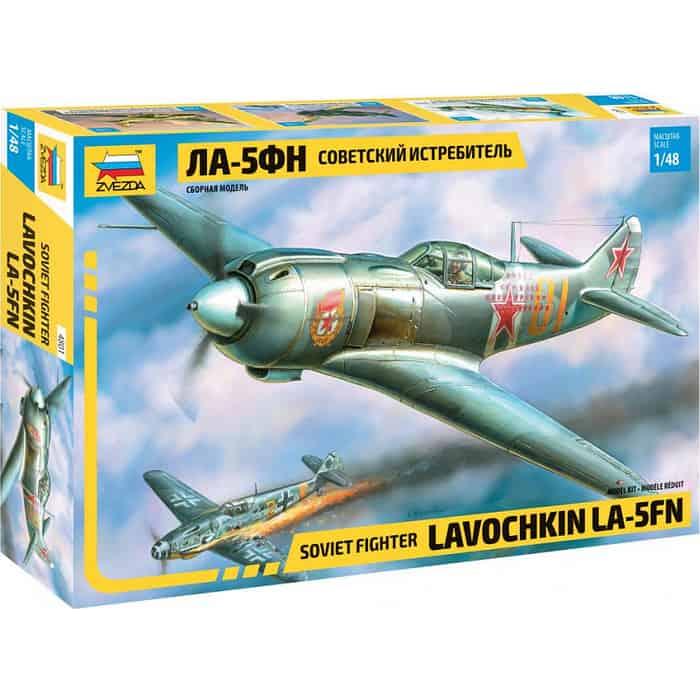 Сборная модель Звезда Советский истребитель Ла - 5ФН, 1/48 ZV 4801