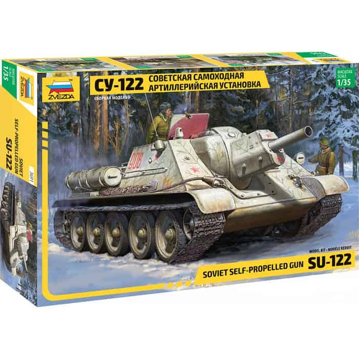 Сборная модель Звезда Советский истребитель танков Су - 122, 1/35 ZV 3691